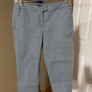 Donna Ricco Blue and Green Cropped Pants